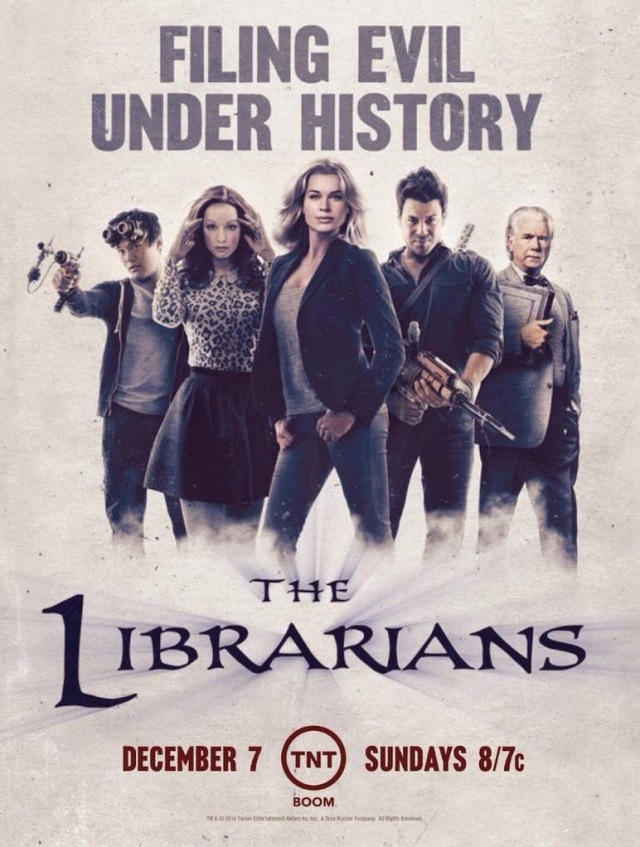 Promotional poster for The Librarians a new show on TNT. It comes on Sunday nights.