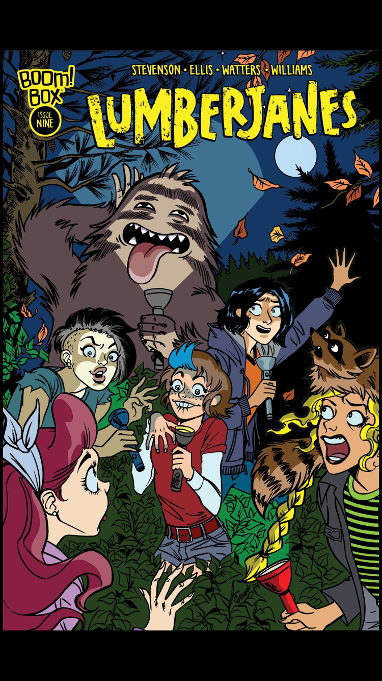 cover of Issue 10 of Lumberjanes