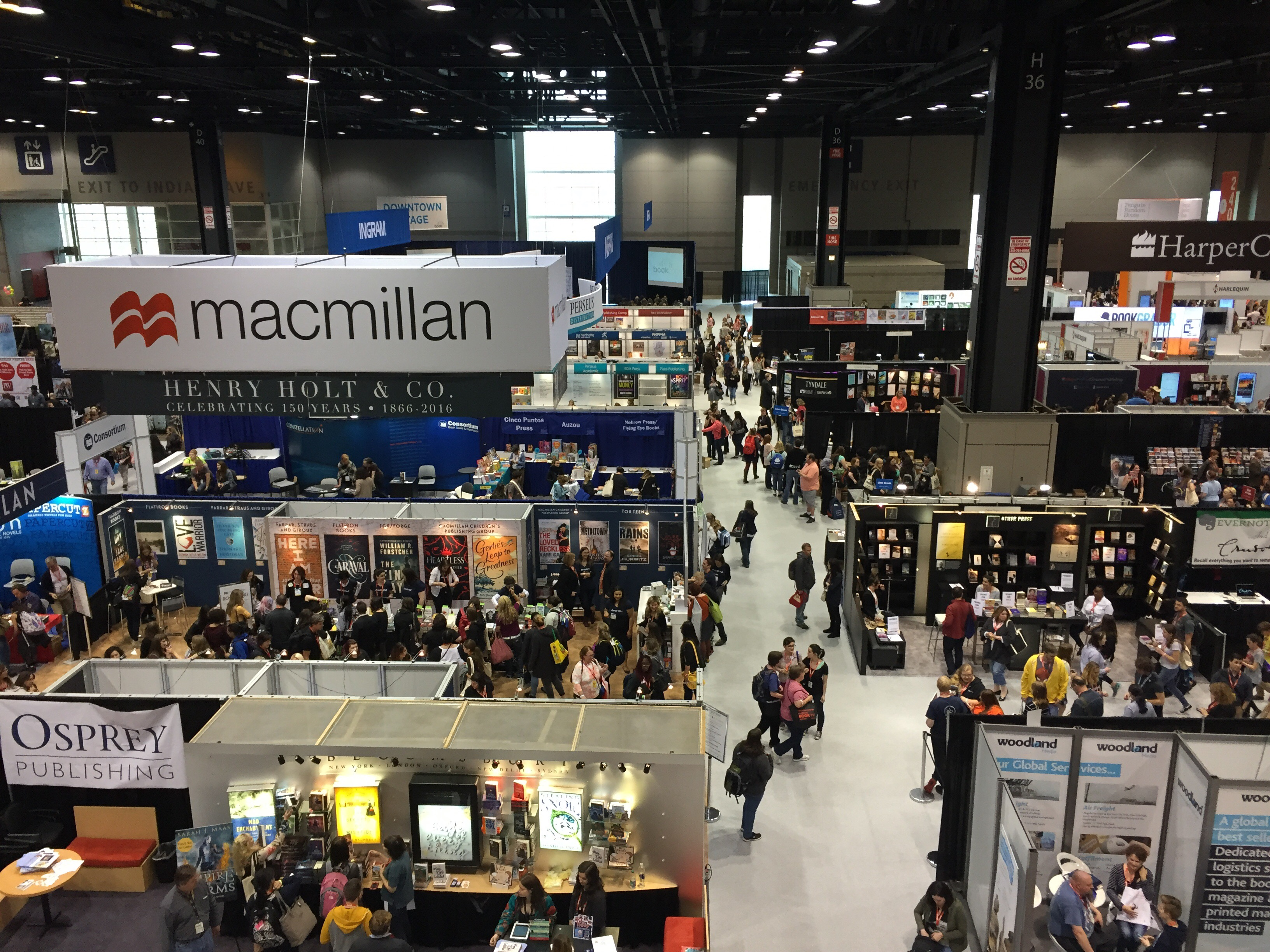 A portion of the floor at BookCon